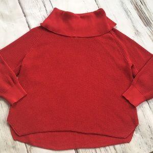 Michael Kors Cowl Neck Sweater Red Knit 2X XXL